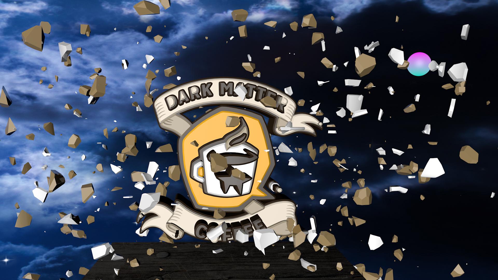 Dark Matter Logo Obliterates Coffee Cup