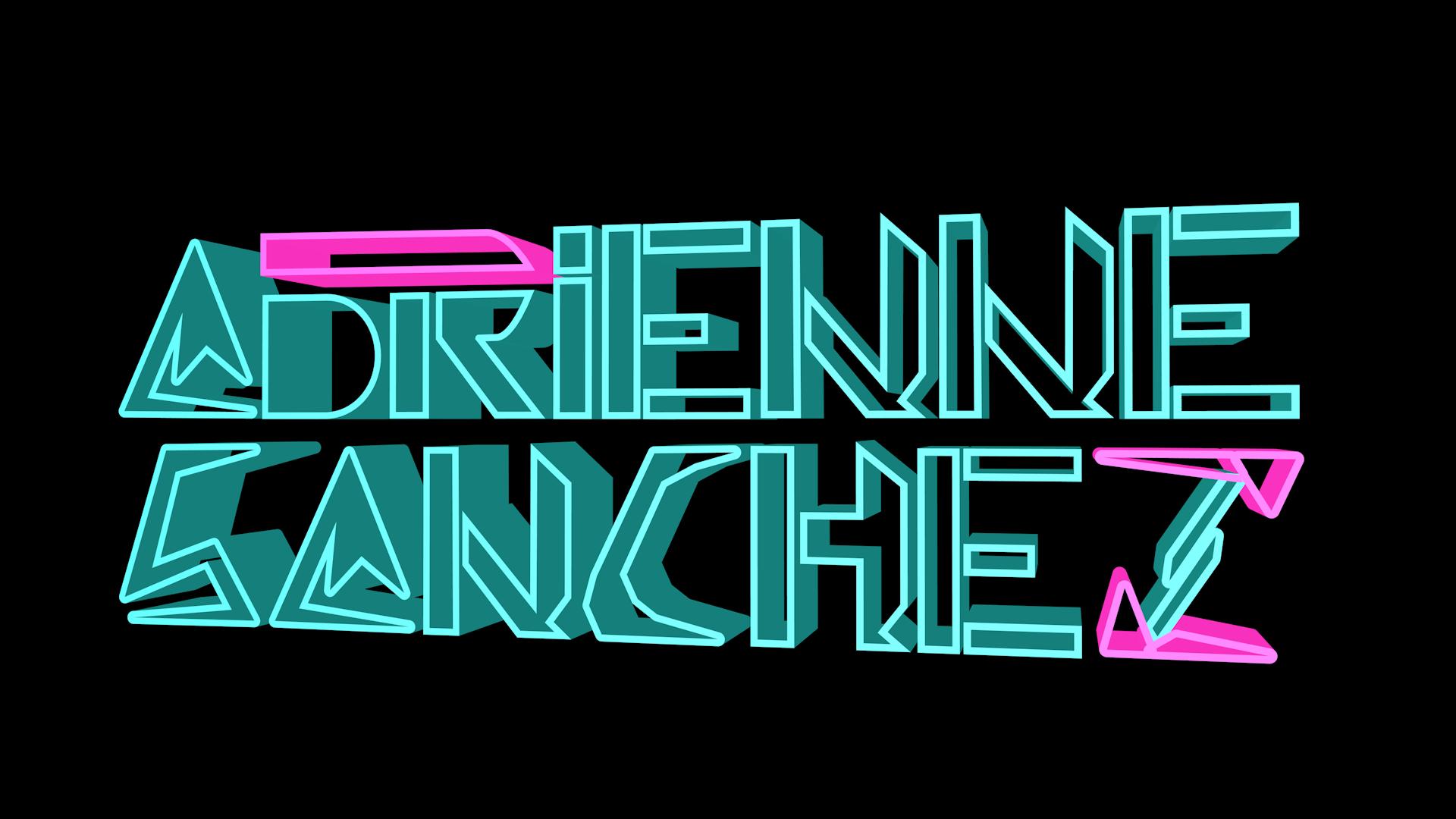 The static 3D logo for DJ Adrienne Sanchez.