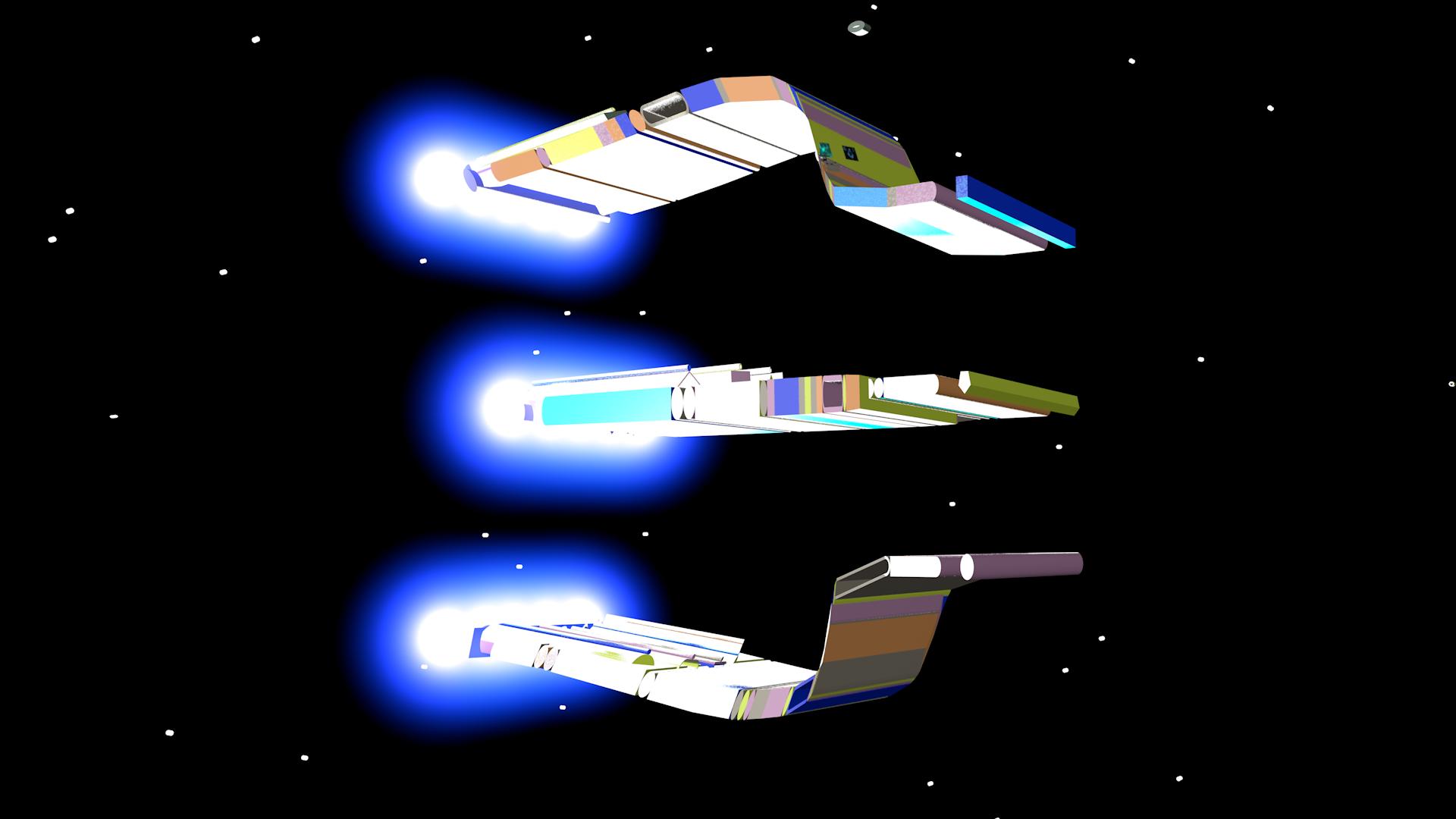 Blend Ship Entering Warp Speed Mode