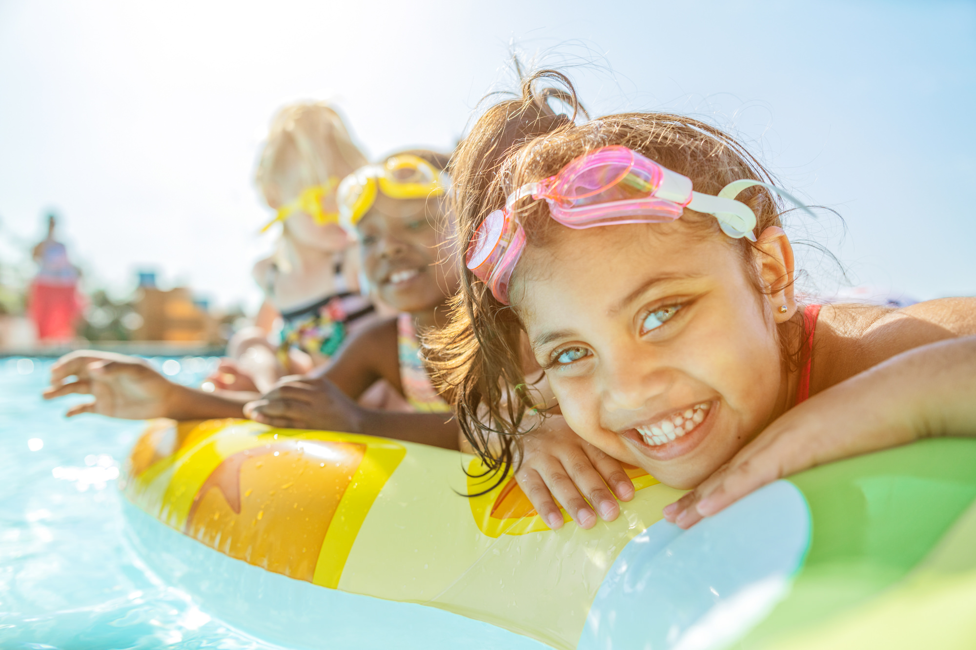 Image of children in the pool at the Beverly Hills Hotel in uMhlanga Rocks, Durban for  Tsogo Sun's Image Library & Content Library by Michelle Wastie Photography