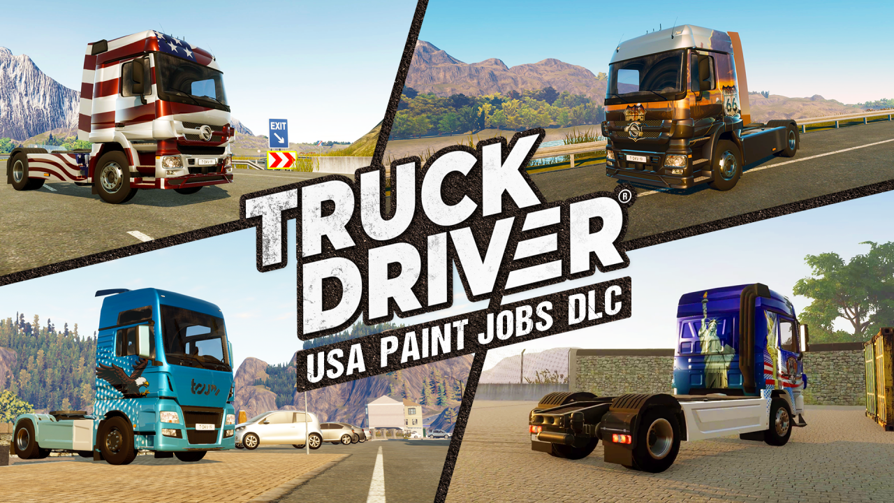 A new look for Truck Driver® with four country-themed 'Paint Jobs' DLCs