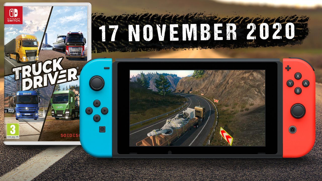 Get ready to experience Truck Driver with solo horizontal Joy-Con grip, tilt controls, HD Rumble and touch screen.