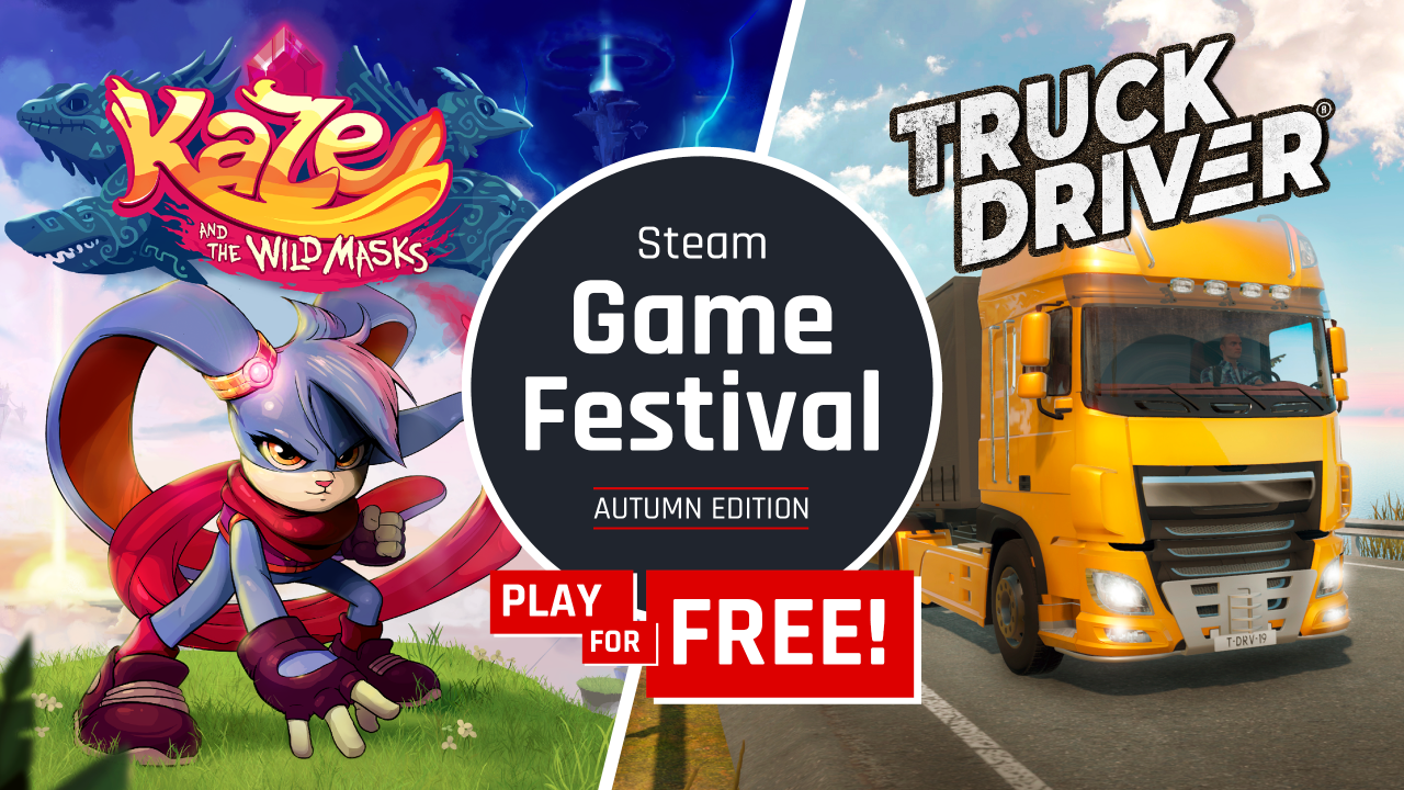 SOEDESCO® is attending the Steam Game Festival with Truck Driver® and Kaze and the Wild Masks