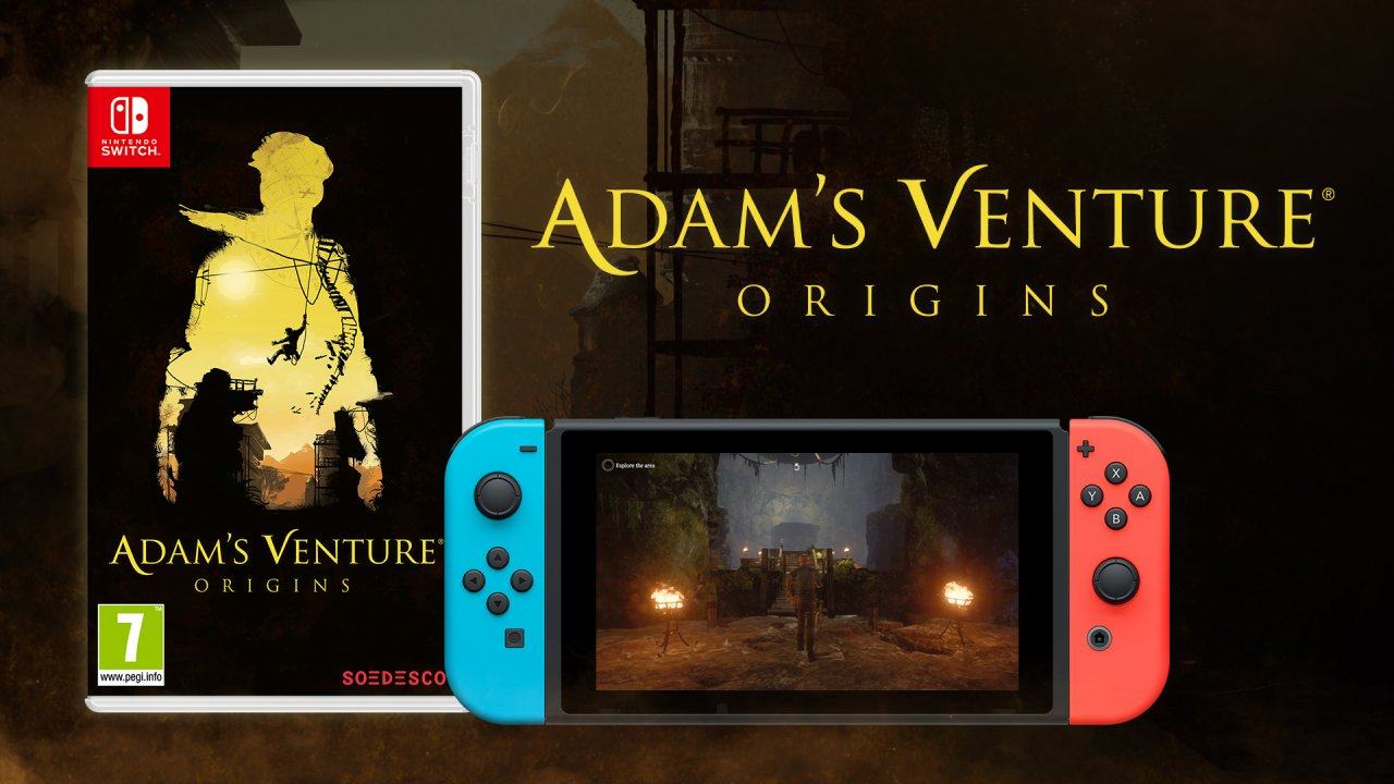 Adam's Venture®: Origins' physical edition for Nintendo Switch™ hits the shelves