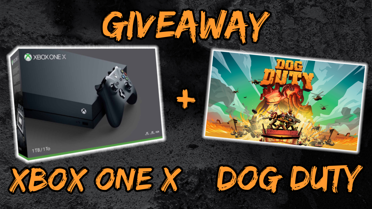 Grab your chance to win an Xbox One X console and Dog Duty game key