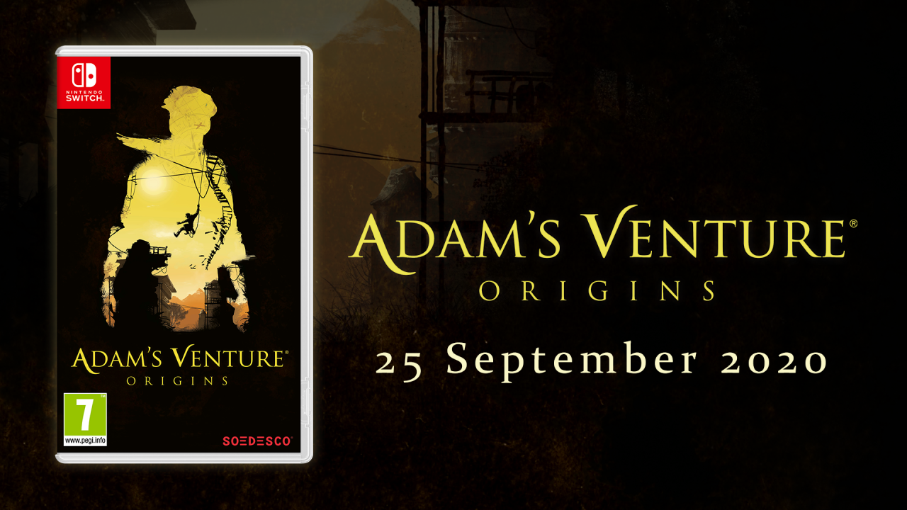 Adam's Venture®: Origins puzzles its way to the stores for Nintendo Switch™ on September 25, 2020