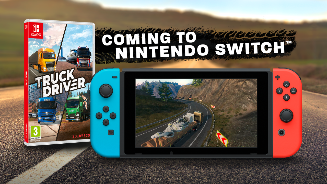 The trucking experience will come with solo horizontal grip, tilt controls and HD Rumble support