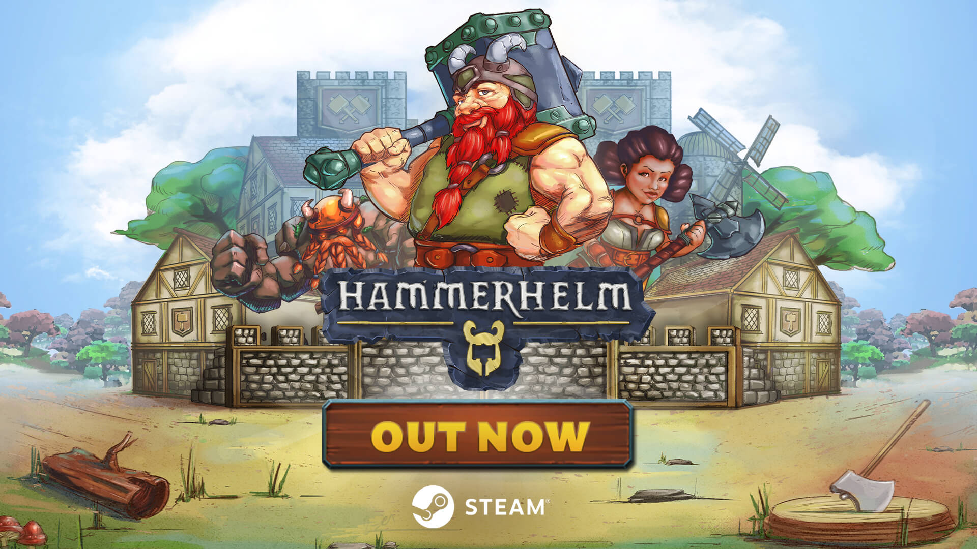 City-building RPG HammerHelm launched on Steam® today