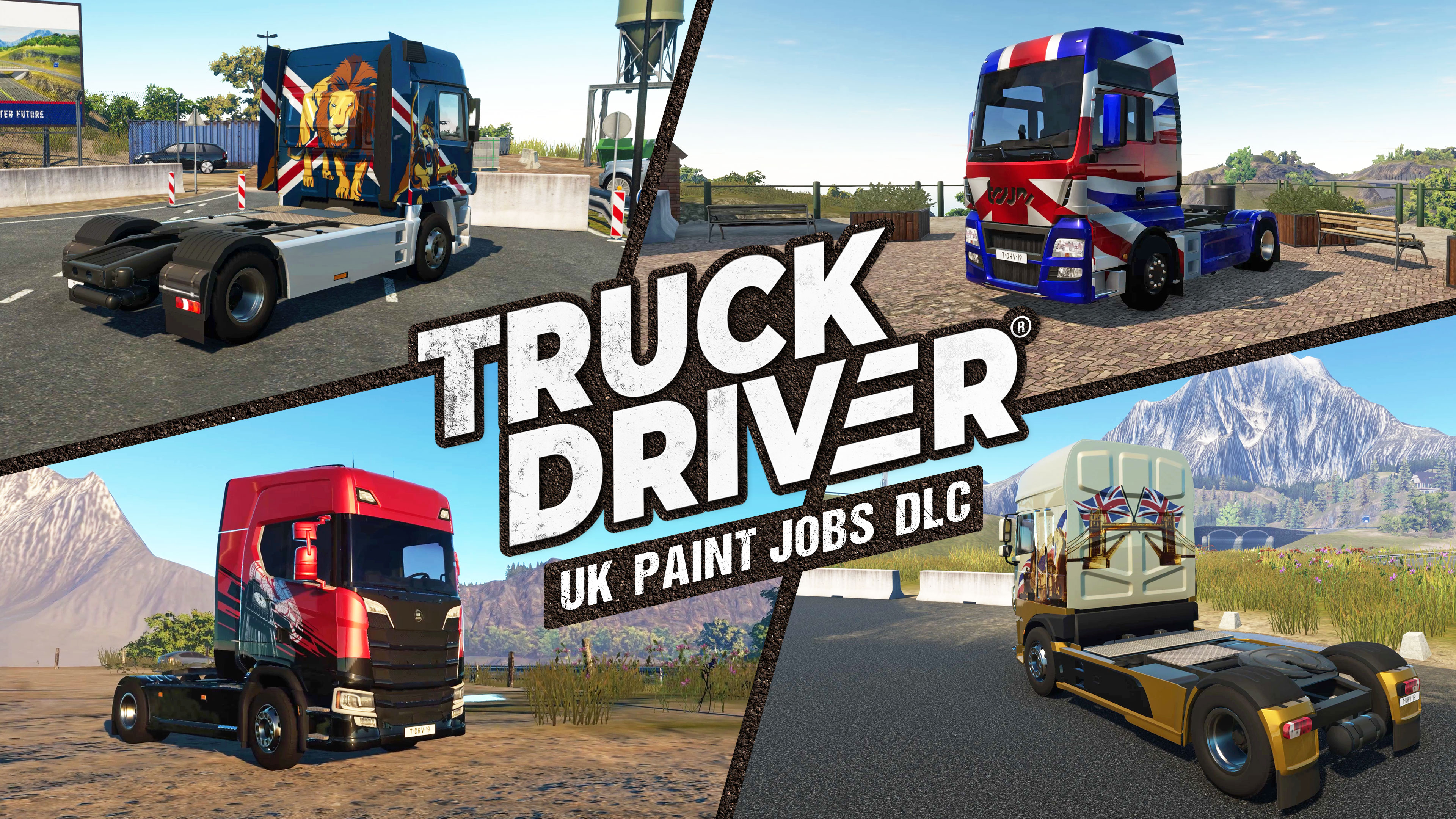 Truck Driver®'s UK-themed paint jobs are now available on PlayStation®4, Xbox One and Nintendo Switch