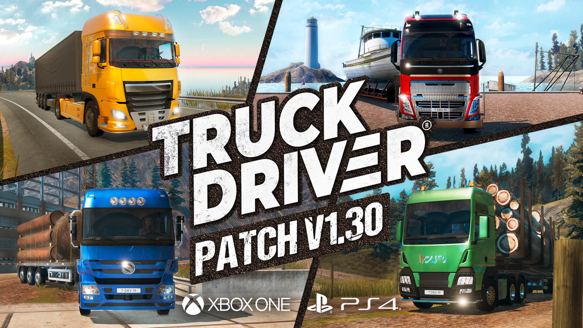 Truck Driver update v1.30 now live on PlayStation®4