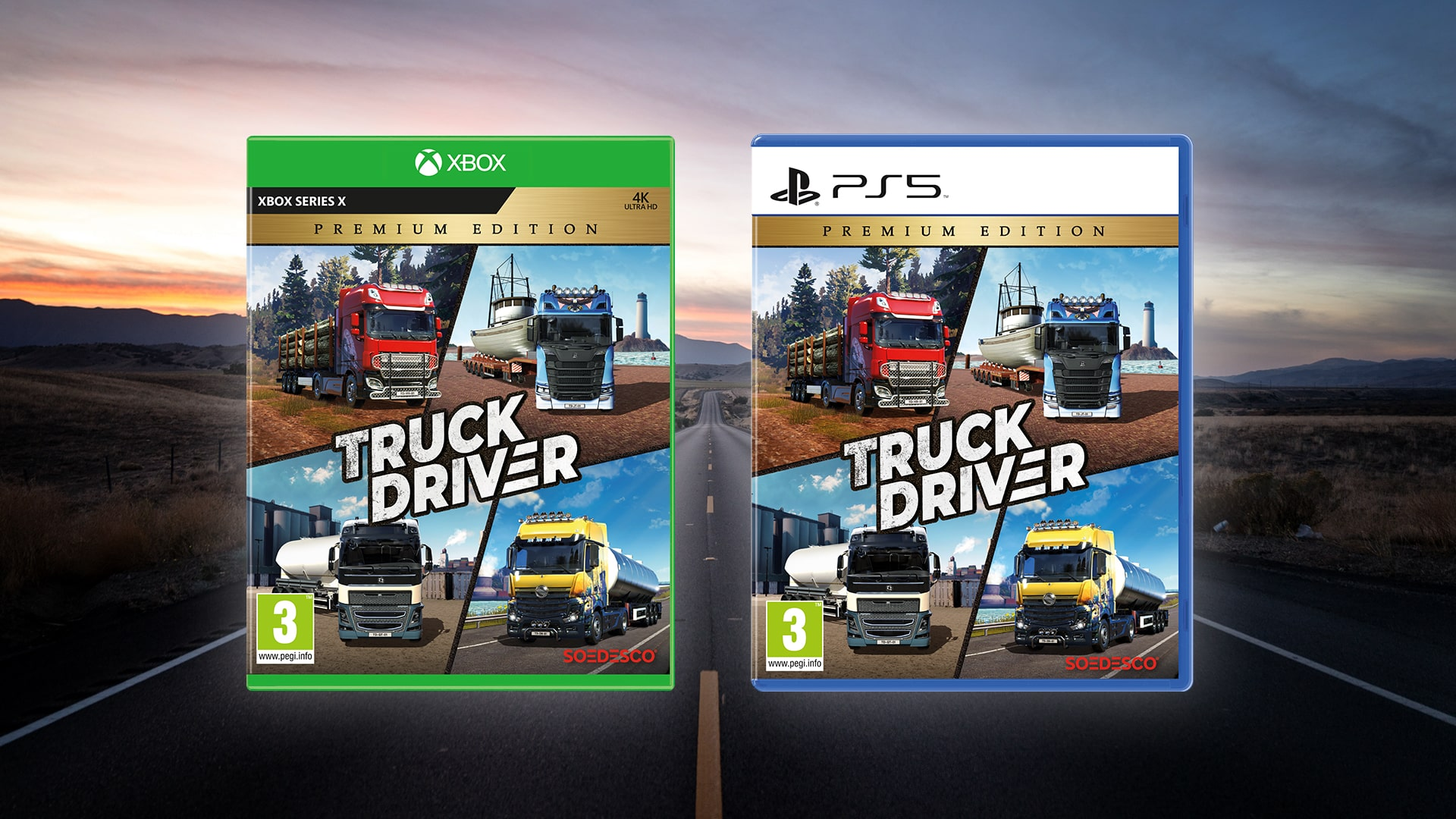 SOEDESCO® announces Truck Driver – Premium Edition which includes the base game and all previously released DLC to next-gen consoles