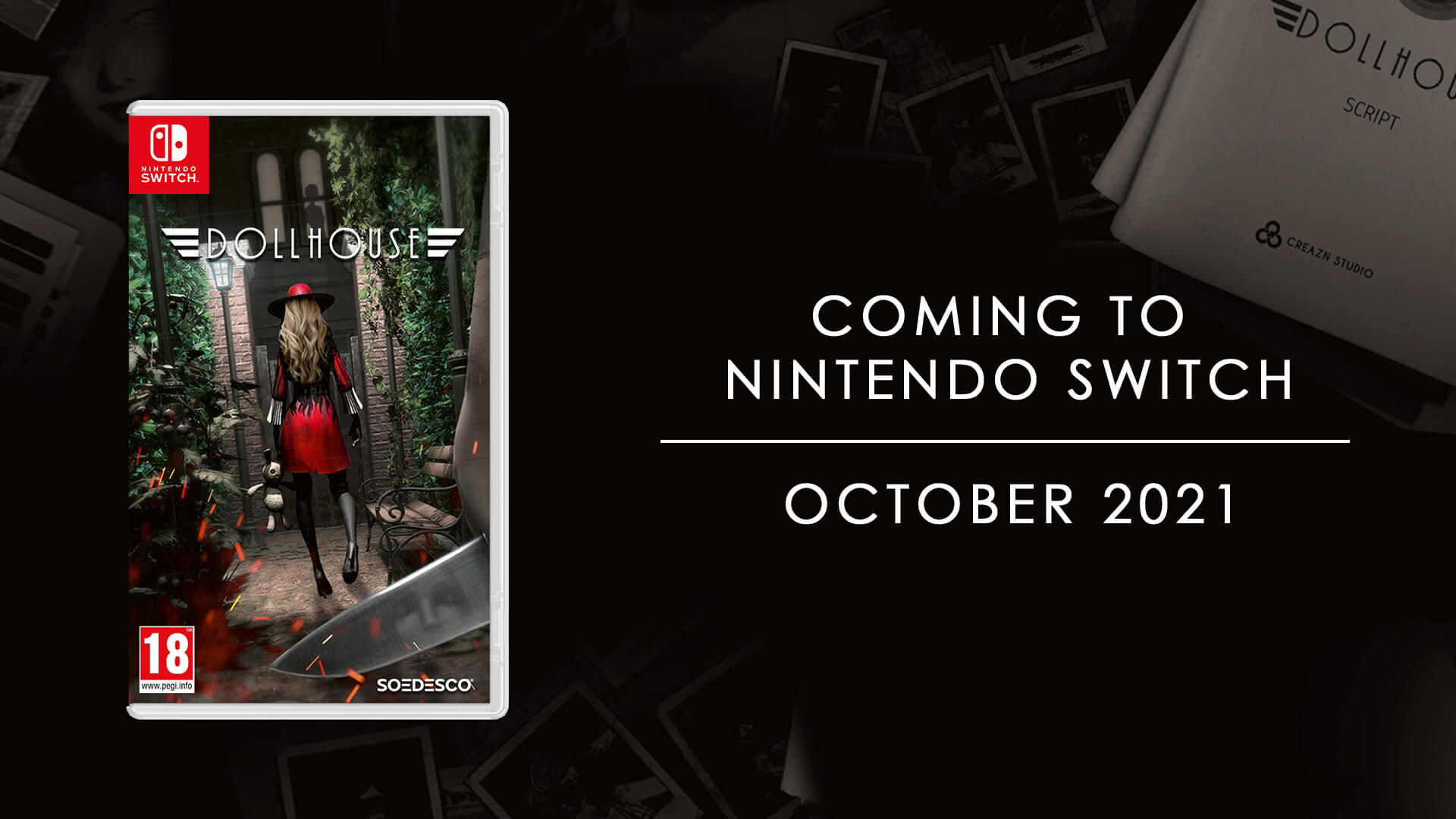 The film noir horror experience goes Nintendo, digitally and physically