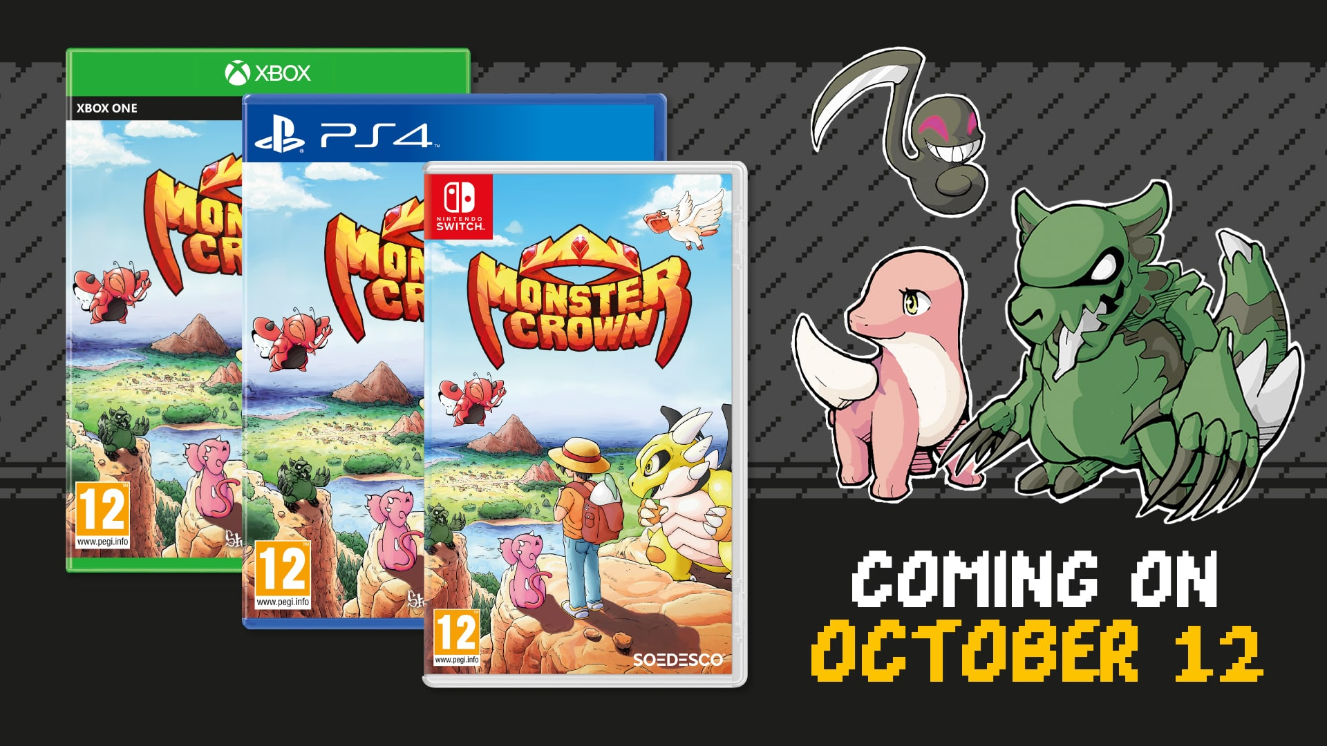 Monster taming RPG 'Monster Crown' to launch on October 12th
