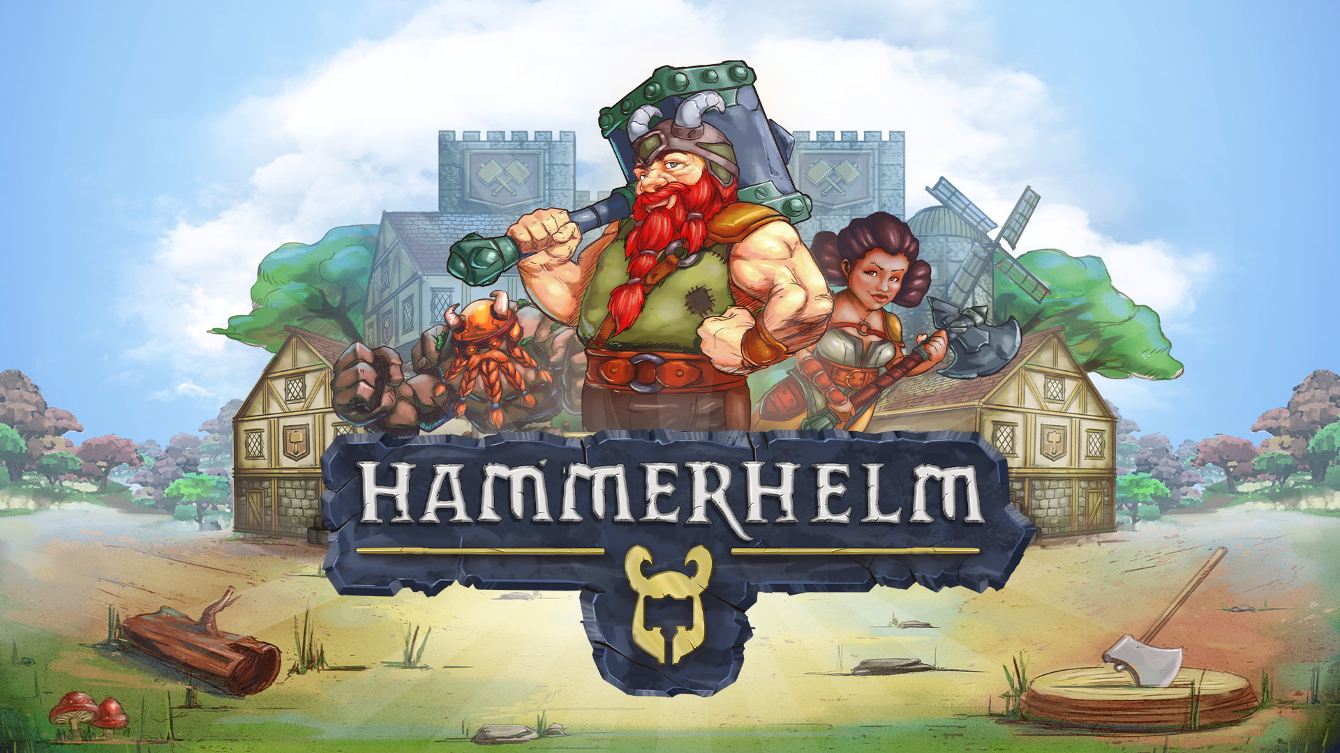 City-building RPG HammerHelm is now available on Epic Games Store
