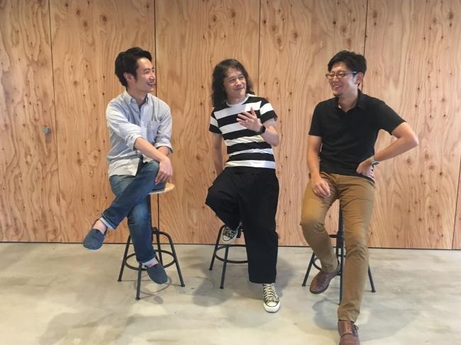 右からEmpath CEO下地貴明、Doki Doki CEO井口尊仁、Empath CSO山崎はずむ