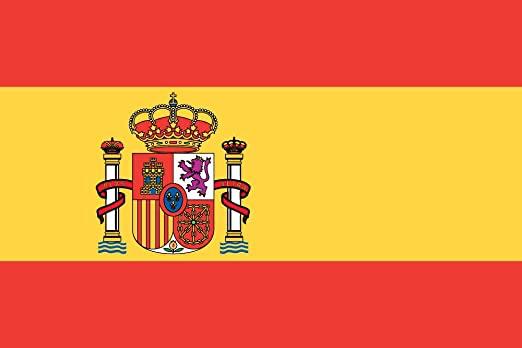 Bandera España idiomas castillo construction