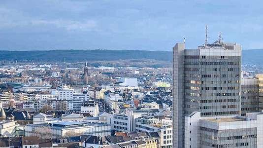 Ein Bild der Skyline von Bonn.