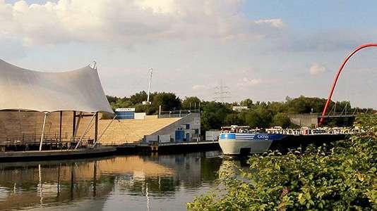 Ein Bild eines Kanals der Stadt Gelsenkirchen.