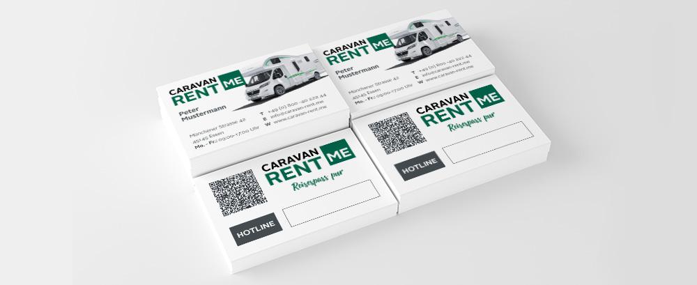 Bild von Visitenkarten von Caravan-rent.me