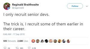 reginald braithwaite developer tweet