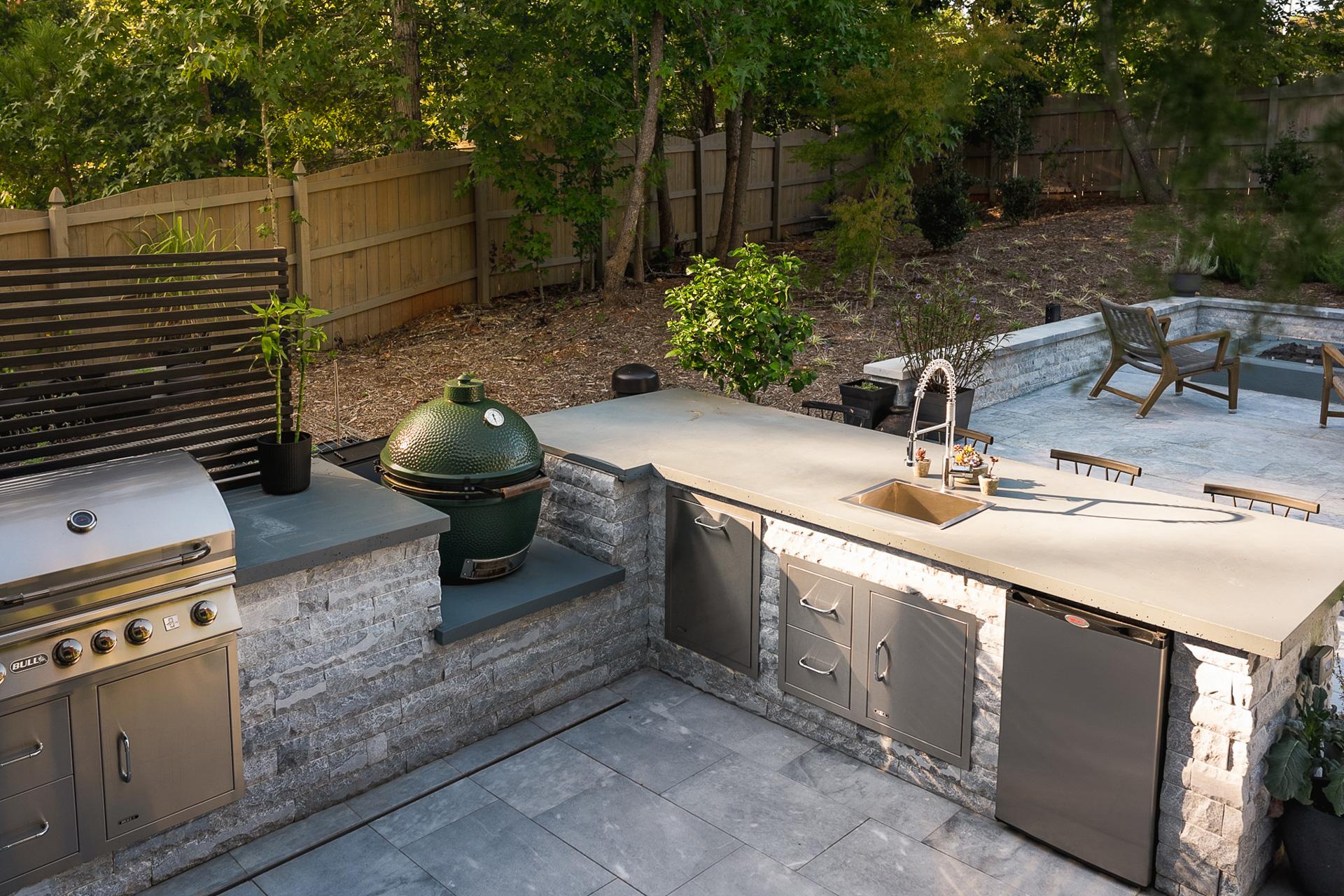 Currin Outdoor Living Matthews Modern backyard matthews nc