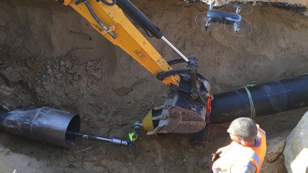 Upsizing sewer pipe networks in Tel Aviv, Israel