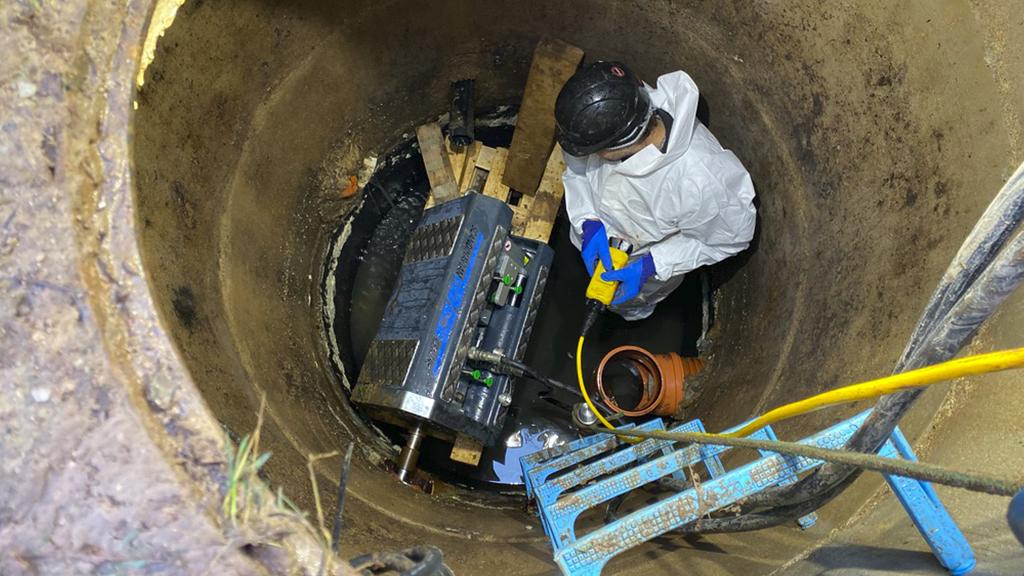 Sewer pipe rehabilitation in Riga, Latvia