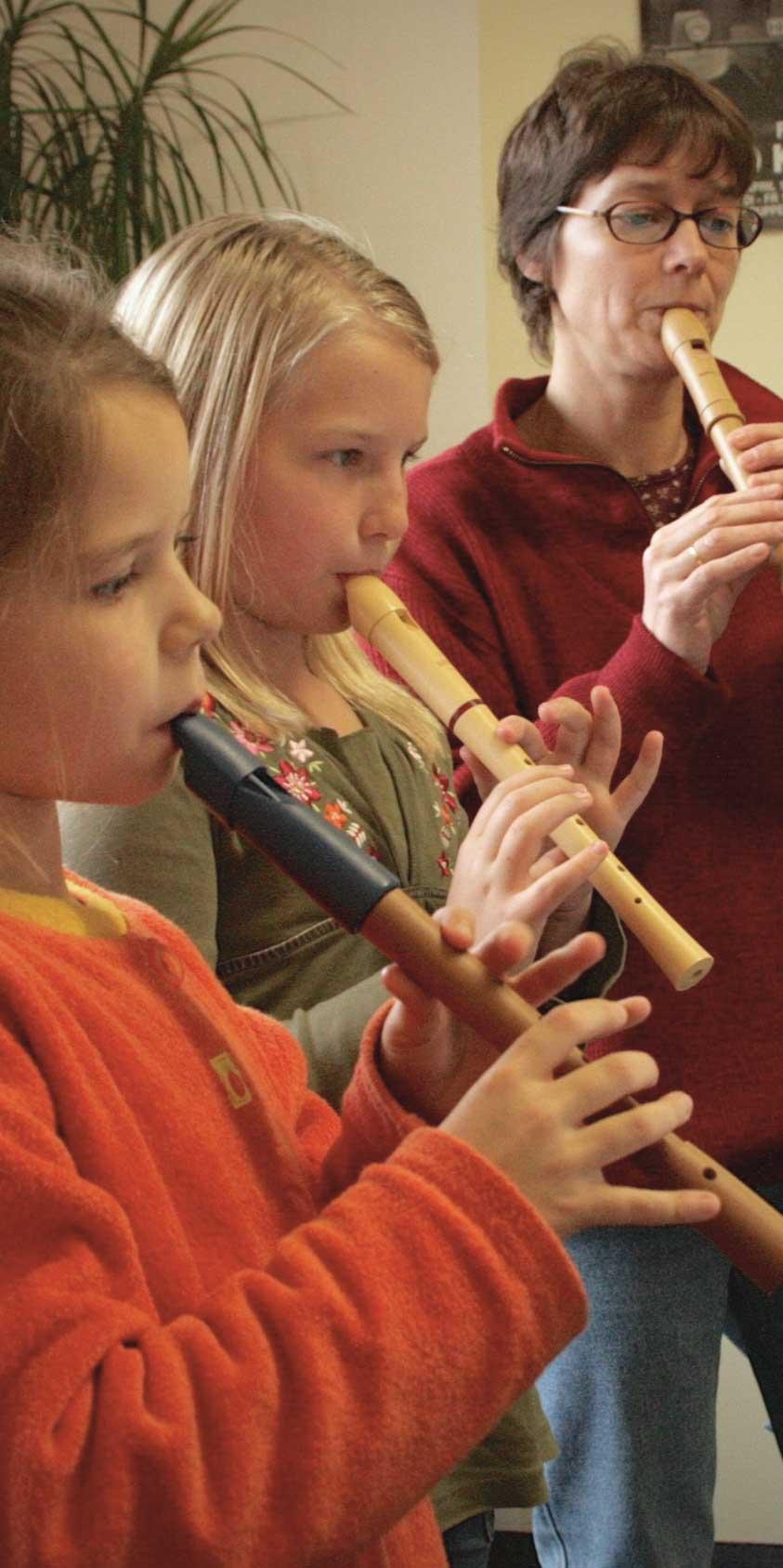 Blockflöten Spieler