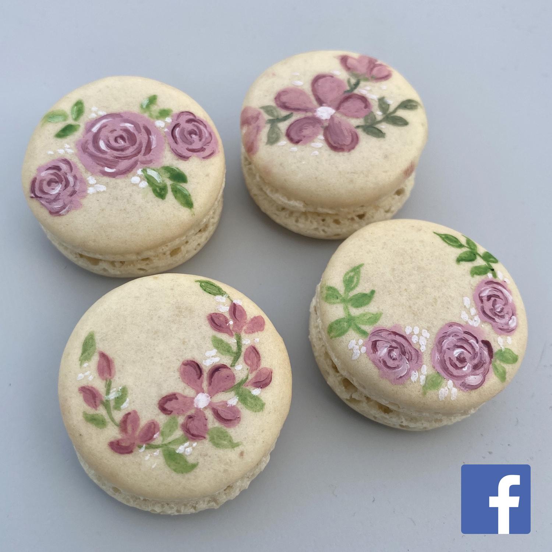 Floral Macaron Painting