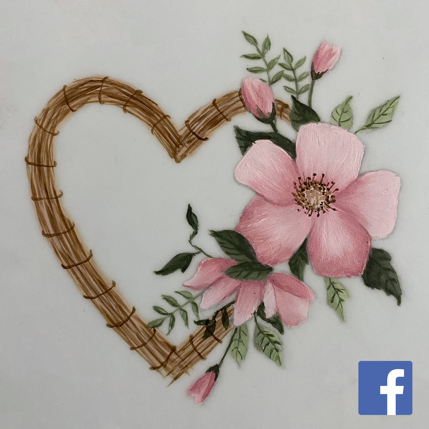 Rustic Heart and Flowers