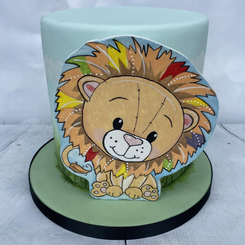 Colourful Lion 3D