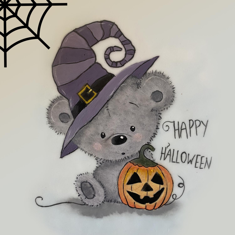 Halloween Teddy and Pumpkin