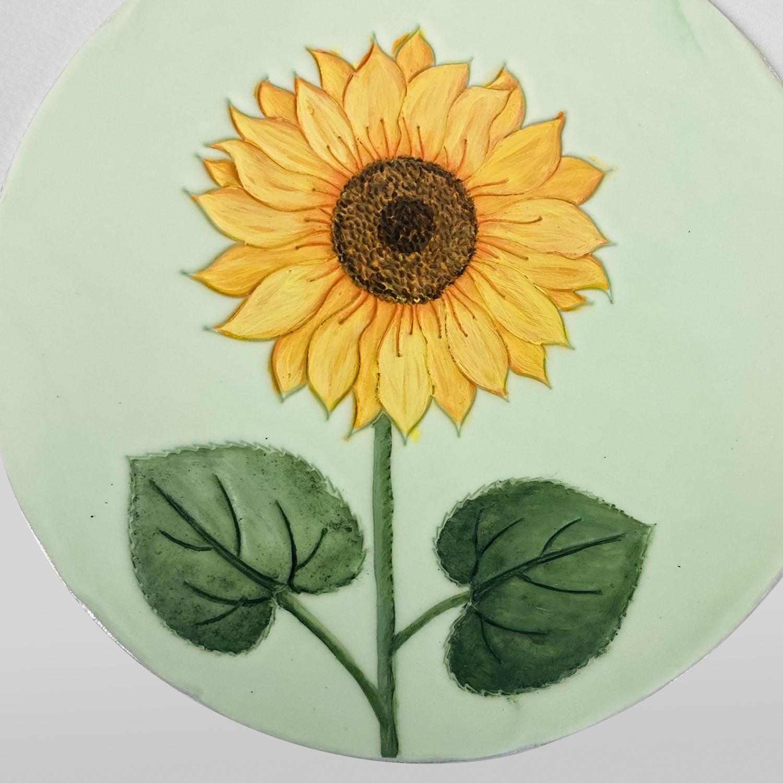 Beginner's Sunflower Painting