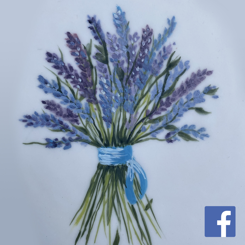 Beginners Lavender Floral Painting