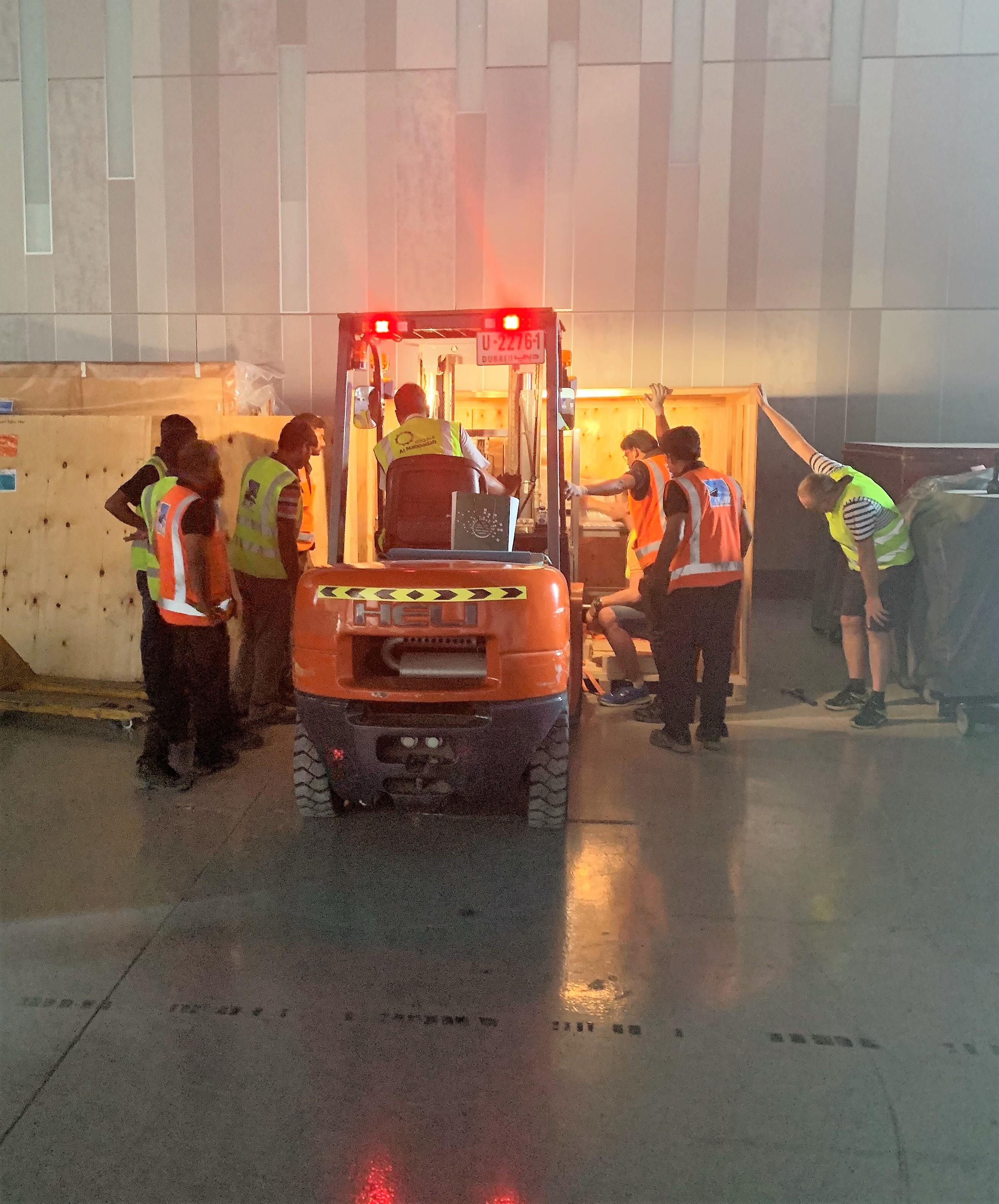 Forklift Dubai nightshift