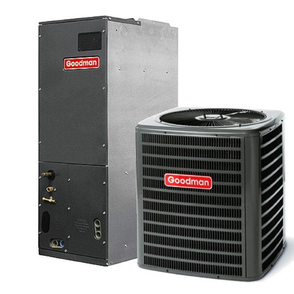 Goodman Heat pump air conditioner.