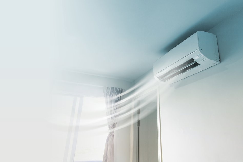 AC cooling the room