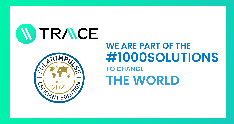 "Traace awarded as ""Solar Impulse Efficient Solution"""