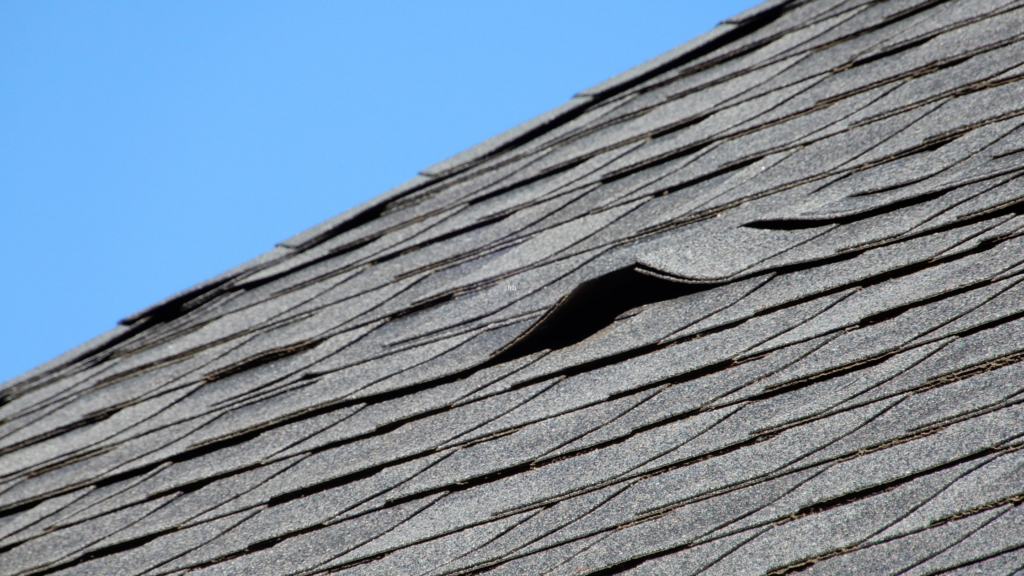 roof shingles damaged by wind