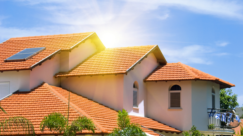Tile roof on Tampa home