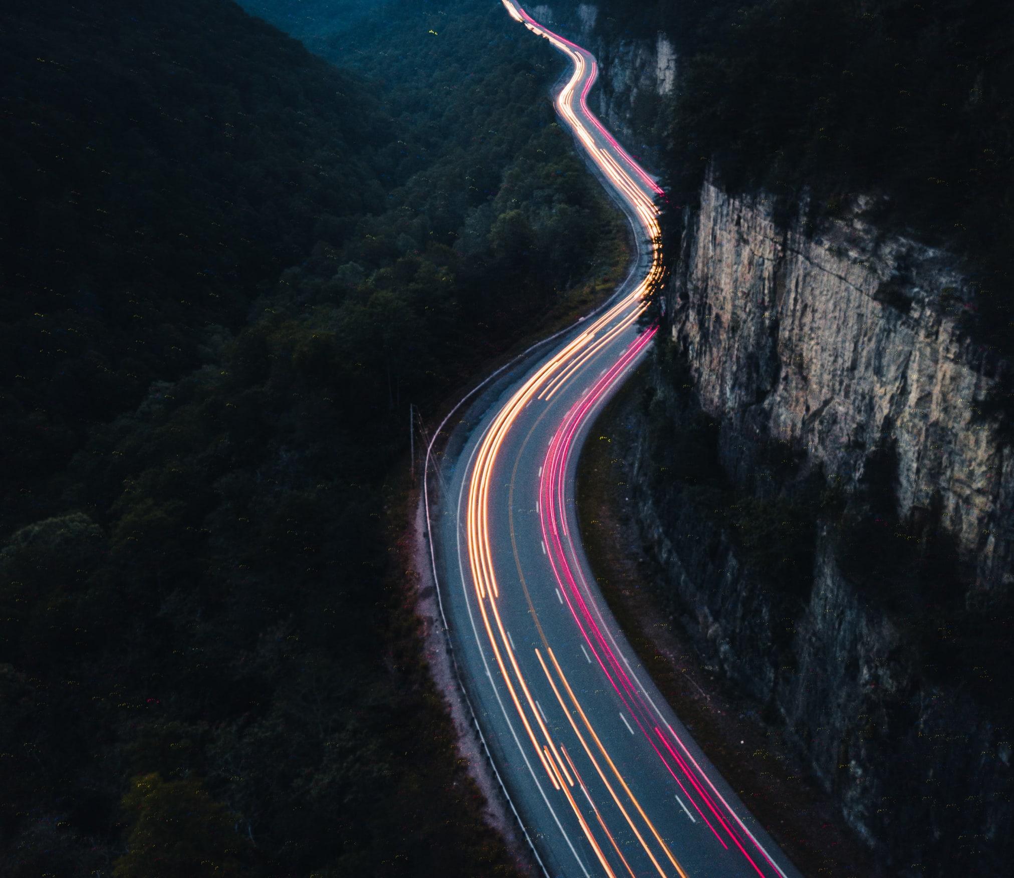Estela de luces de coches