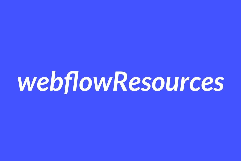 Weblow Resources