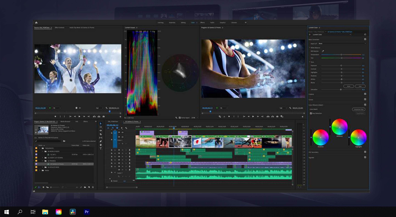 Adobe Premiere screenshot from Suite Studios Virtual cloud based workstation