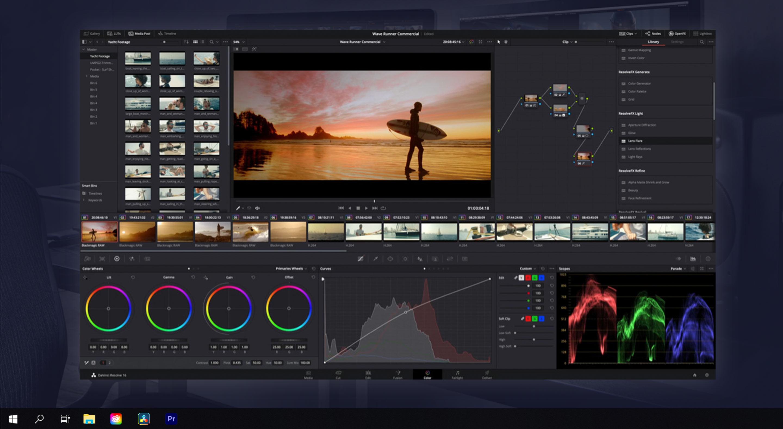 Davinci Resolve screenshot from Suite Studios Virtual cloud based workstation