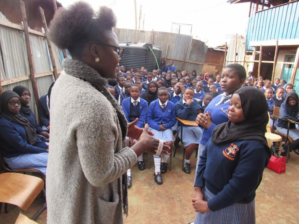 Kibera-Girl-Soccer-club-session-ongoing