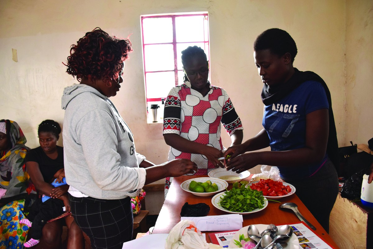 Training on good nutrition and herbs to improve health and treat common illness