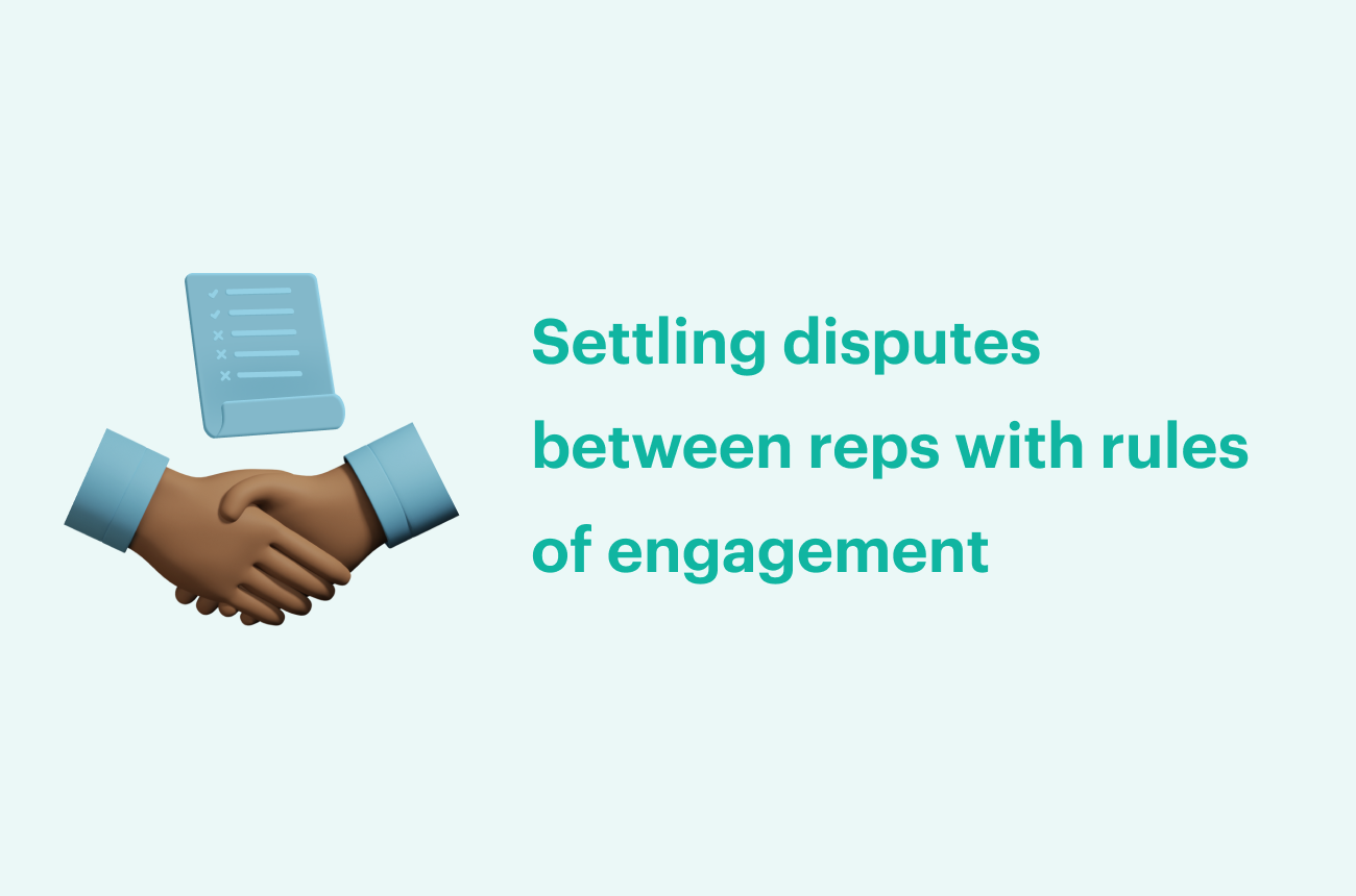 Settling disputes between reps with rules of engagement
