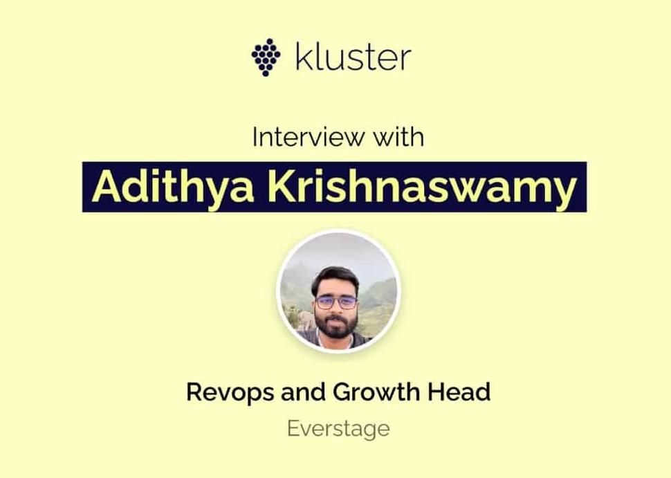 Revenue Operations Interview: Adithya Krishnaswamy at Everstage