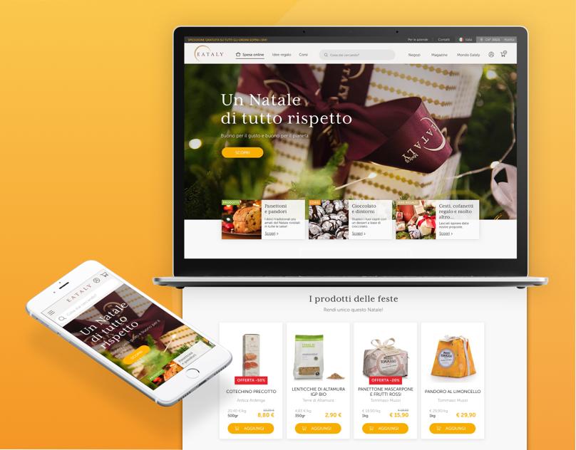 Website re-design for Eataly