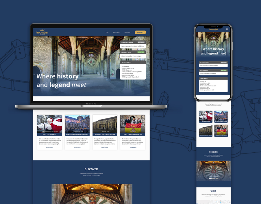 The Great Hall: Landing Page